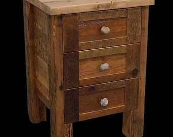 Reclaimed Wood Rustic Night Stand