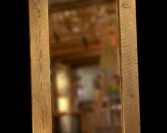 Custom reclaimed wood frames & mirrors