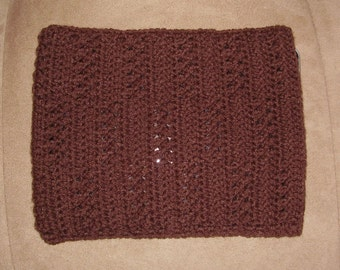 Crochet iPad / tablet case/sleeve - brown