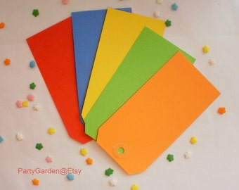 Colored Tags - Large Gift Tags - Choice of Colors - 20 ct