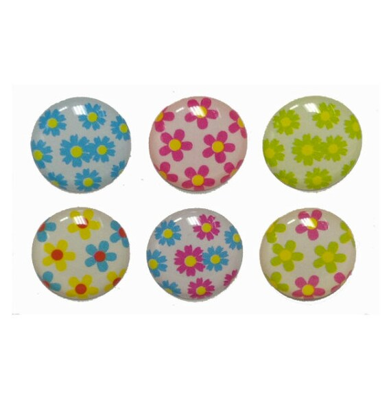 mini flowers 6 piece iphone home button stickers for apple