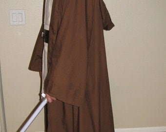 Long Dark Brown Jedi Robe Sith Robe / Cloak / Monk