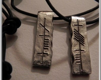 Soul Friend (Anam Cara) Ogham Pewter Pendant Set