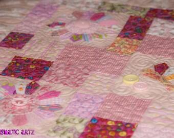 Butterflies & Flowers Baby Quilt
