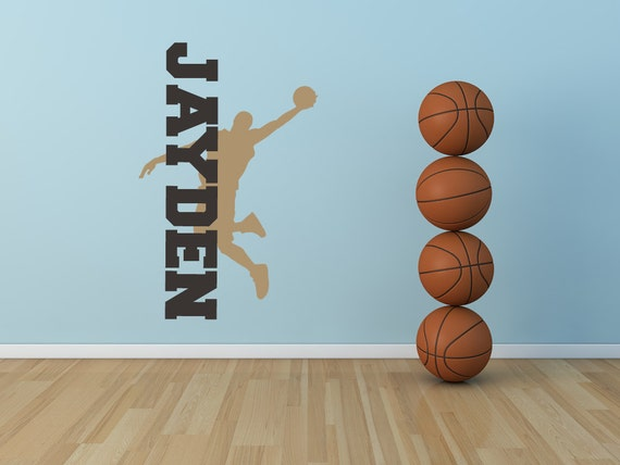 Personalized Decal Basketball Decor By Vinylwalllettering On Etsy