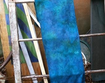 Aqua Blue emerald Teal Colorful Rayon Scarf