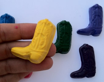 set of 10 cowboy boot crayons - party favor - birthday - rodeo birthday - horses - ranch party