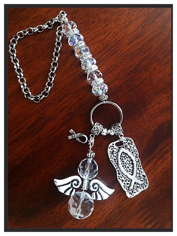 Car Pendant Metal Diamond Cross Suspension Ornaments
