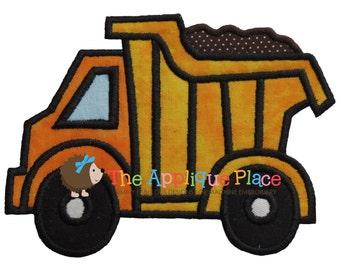 Dumptruck Machine Embroidery Applique Design