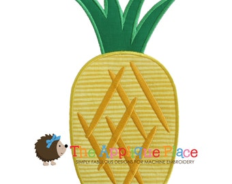 Pineapple Machine Embroidery Applique Design
