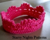 Crochet Princess and Prince Crown ii Baby Headband Crown INSTANT DOWNLOAD PDF Pattern