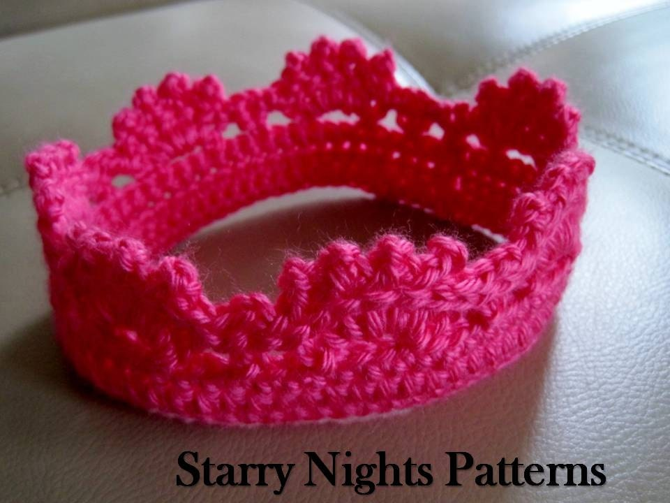 Crochet Princess and Prince Crown ii Baby by ...