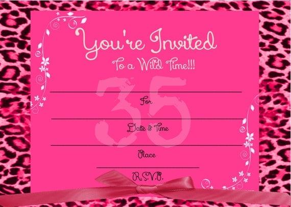 Cheetah Print Invitation as perfect invitations template
