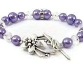Lilac Pearl and Crystal Beade