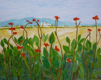 Fine Art print of my original landscape oil painting - Delta Dancers.