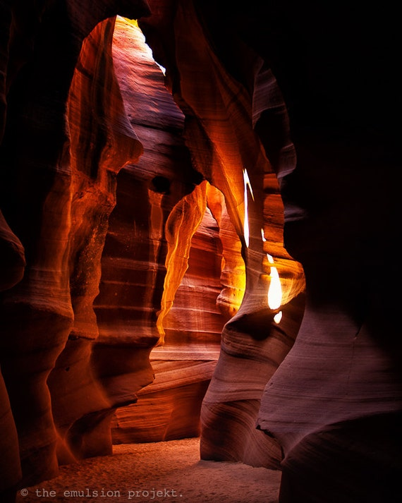 THE DESERT COLLECTION, nature photograph, Antelope Canyon, rays, pattern, desert, dry, red, orange, rocks, Arizona, colorful, hot