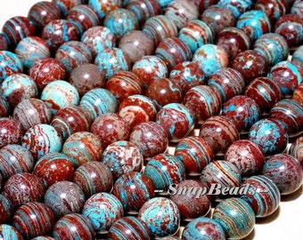 6mm Turquoise Calsilica Gemstone Smooth Round 6mm Loose Beads 15.5 inch Full Strand (10233686-42)