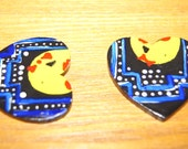 """Pac (Wo)Man """"Love is a MAZE"""" Earrings"""