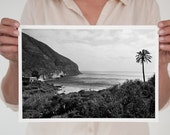 "Last Paradise A4 (8,2""x 11,7"")  (21 x 29,7cm) Spain.Cala de San Pedro.Europe.Natural Beach.black and white. Andalucía. Sea, art."