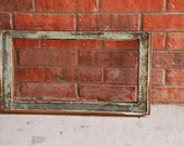 Chippy Paint/ Natural Wood Empty Window Frame- Large