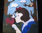 Snow White Paper Sculpt with Frame