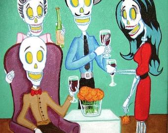 Day of the Dead/ Dia de Los Muertos Print - Salud by Lisa Cabrera