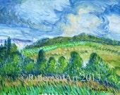 Giclee Fine Art Print: Summer at Huckleberry Bald