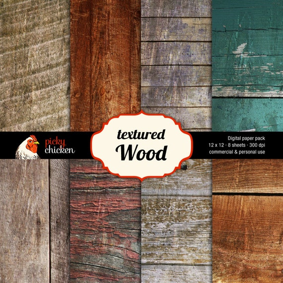 Wood Digital Paper Rustic Woodgrain Background Photography