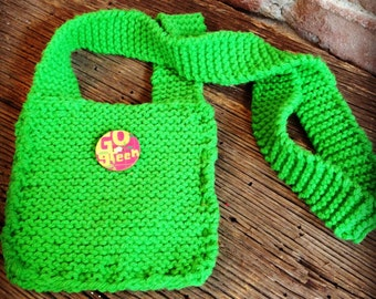 happy green hipster pouch