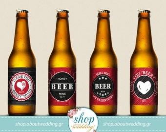 valentine beer printable labels 4 diy