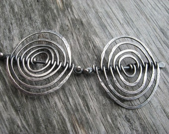 Sterling silver artisan Calder inspired statement necklace (N48)