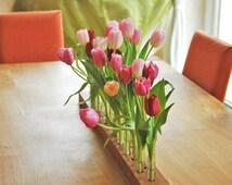 wood vase for wedding romantic