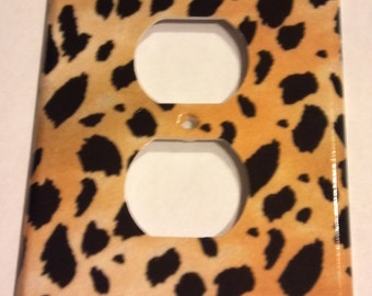 Cheetah Leopard Print Outlet Plate Cover