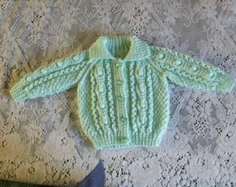 REDUCED PRICE Baby Aran Jacket