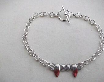 Vampire Teeth with Blood Bracelet