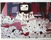 Vintage Disney Poster, 101 Dalmatians, 1970's, Mint Condition, 15 x 11 inches, Walt Disney Productions Posters, Puppies, Dogs