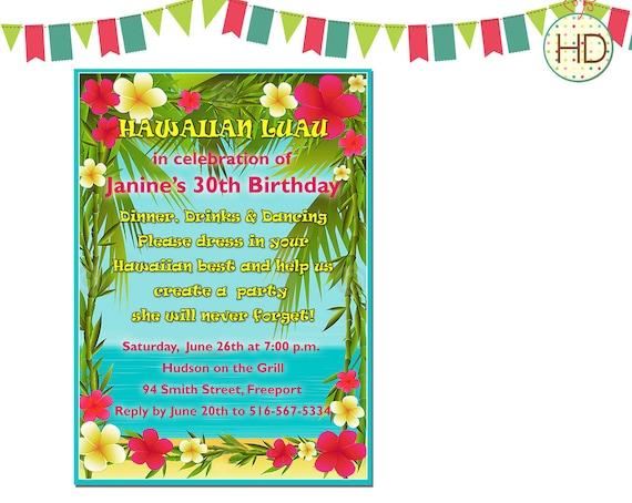 Luau Birthday Party Invitation Wording with nice invitations design