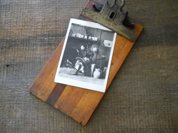 Antique Wood And Metal Clipboard Turn Of Century Wooden Clipboard