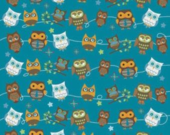 Doohikey Designs for Riley Blake, Hooty Hoot Returns Hoot Roll Call Fabric 1 Yard