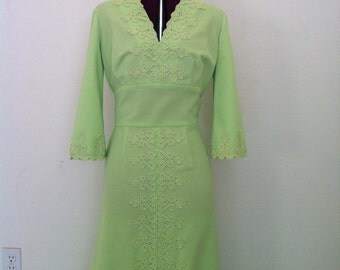 Vintage Claralura Dress 60s Loungewear Maxi Mad men
