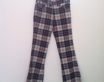 Vintage Rare Big E 60s  Plaid Levi's 30 in / 34 in Bell bottoms