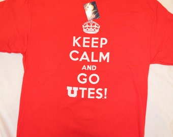 """Officially Licensed University of Utah Utes """"Keep Calm and Go Utes"""""""