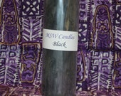 Black Unscented Soy Pillar Candle