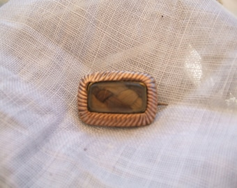 Small Gold Hair Brooch