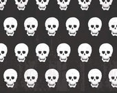 Geekly Chic- BLACK SKULLS by  Amy Adams for Riley Blake