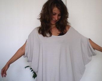 Loose Tunic Long Jersey Tunic  Casual Midi Dress Plus Sizes & Nara AT021