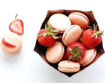 Strawberry Buttercream Macaron