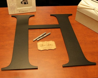 """Monogram Guest Book Letter Kit with Plaque & Pens - 22"""" Guestbook"""