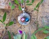 Bird's Nest Mother's Pendants