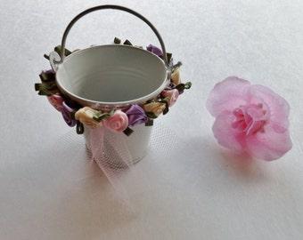 Elegant Rose Pail Favors